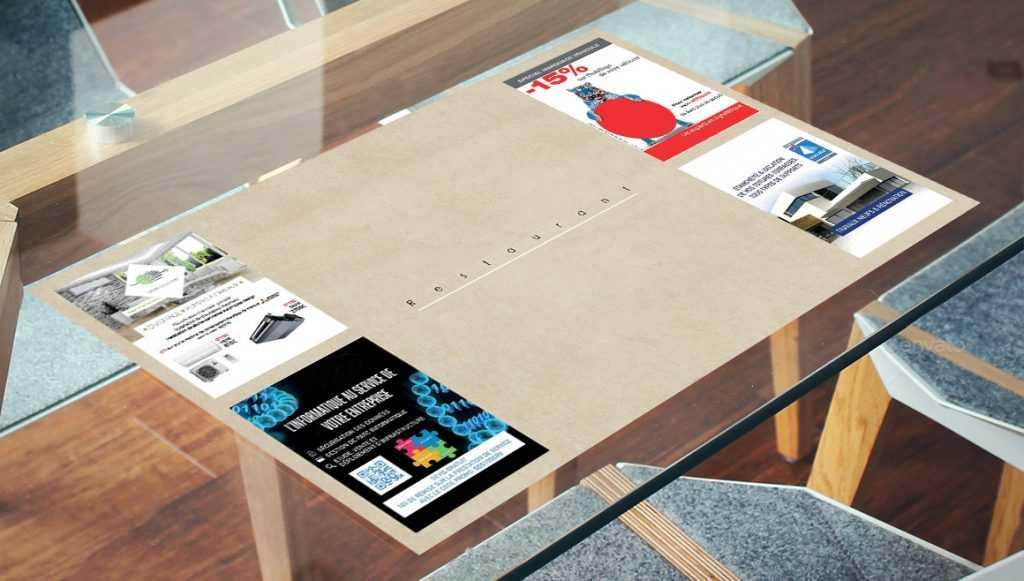 set-de-table-publicitaire
