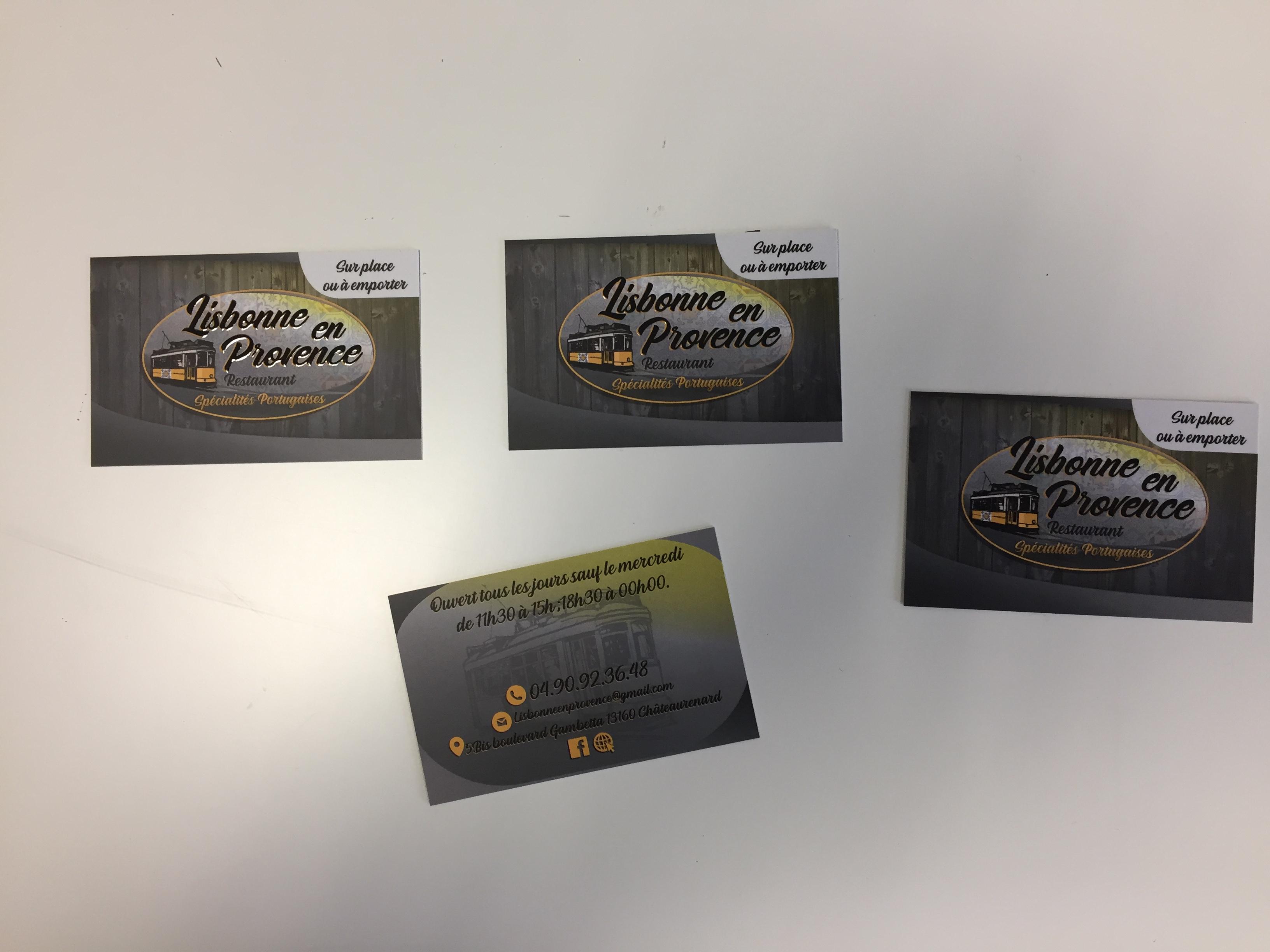 Cartes De Visite Vernis Selectif 3D Chateaurenard
