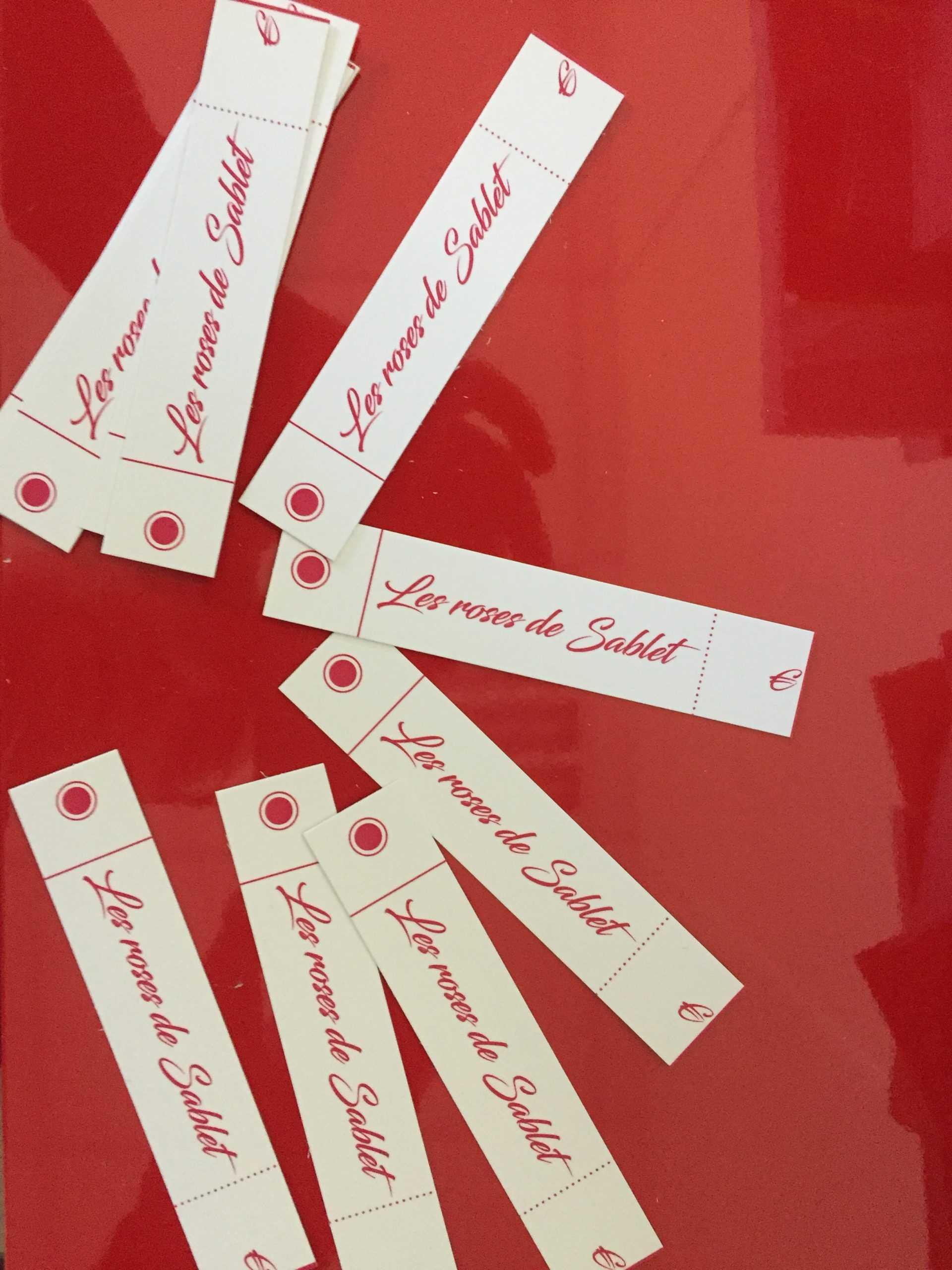 Imprimerie étiquettes fleuriste