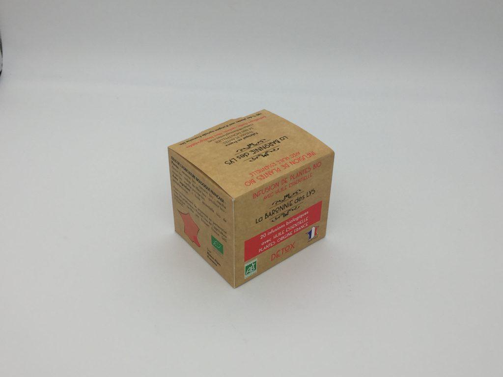 Packaging boîte de thé