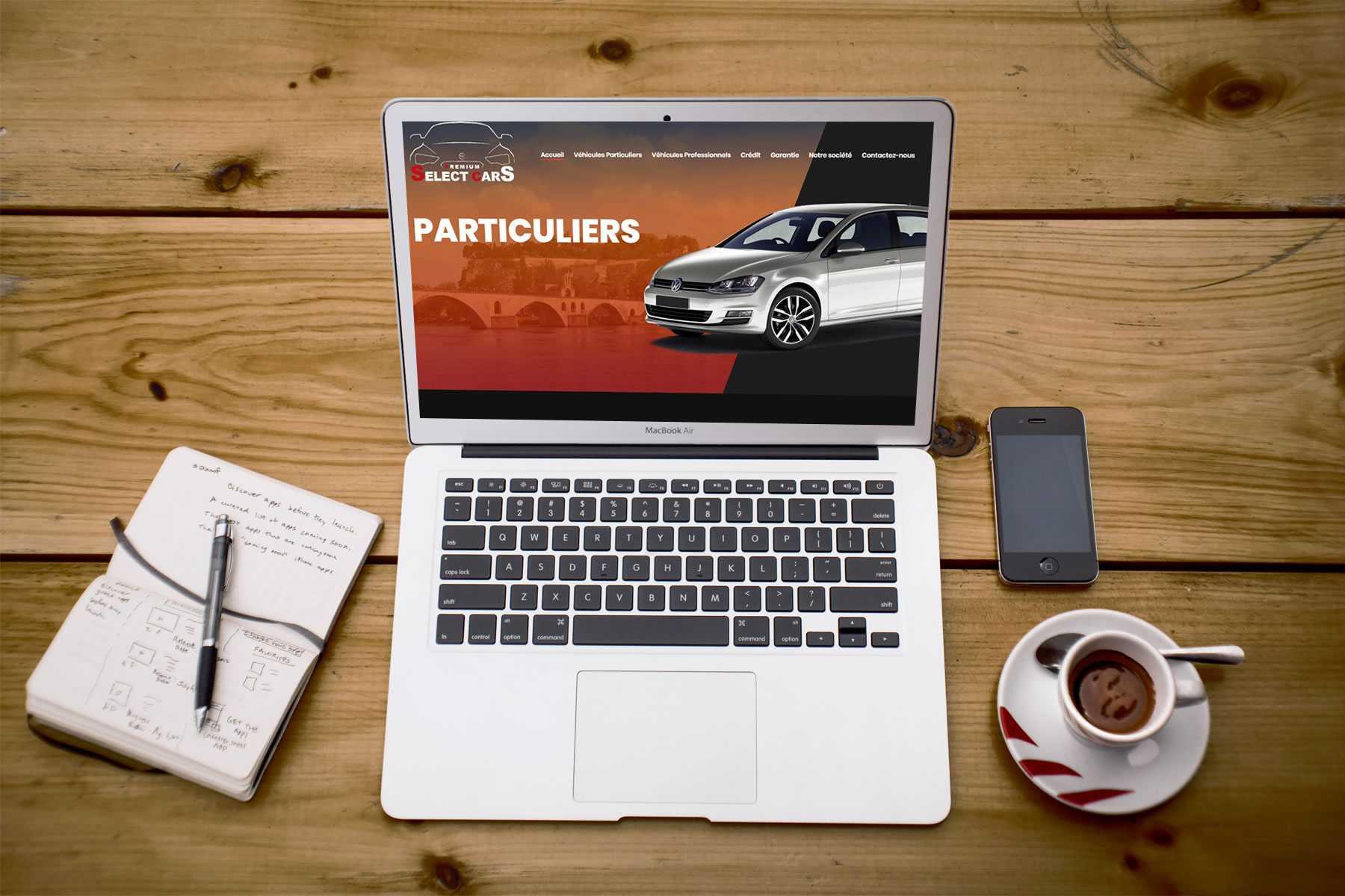 cr ation site internet pour vente de voiture icone internet agence de communication chateaurenard. Black Bedroom Furniture Sets. Home Design Ideas