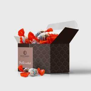 Coffret de chocolats personnalisé, boîte à bonbons