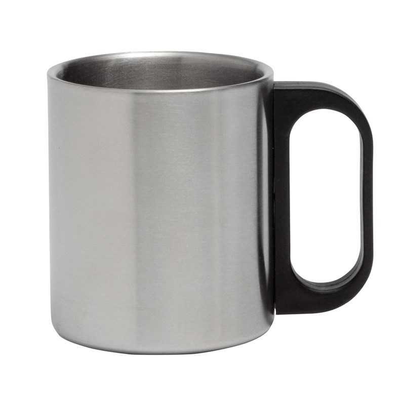 Mug Inox Avec Poignée En Plastique
