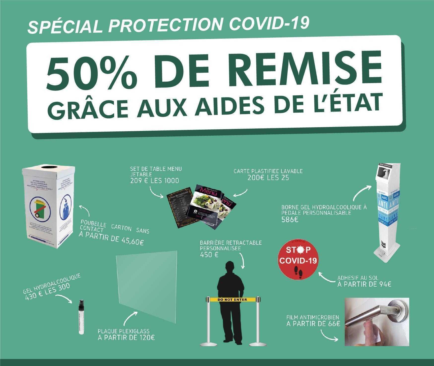 Subvnetion état protection covid 19 signaletique