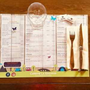 Set de table personnalisé pour Restaurant, Snack et Camping
