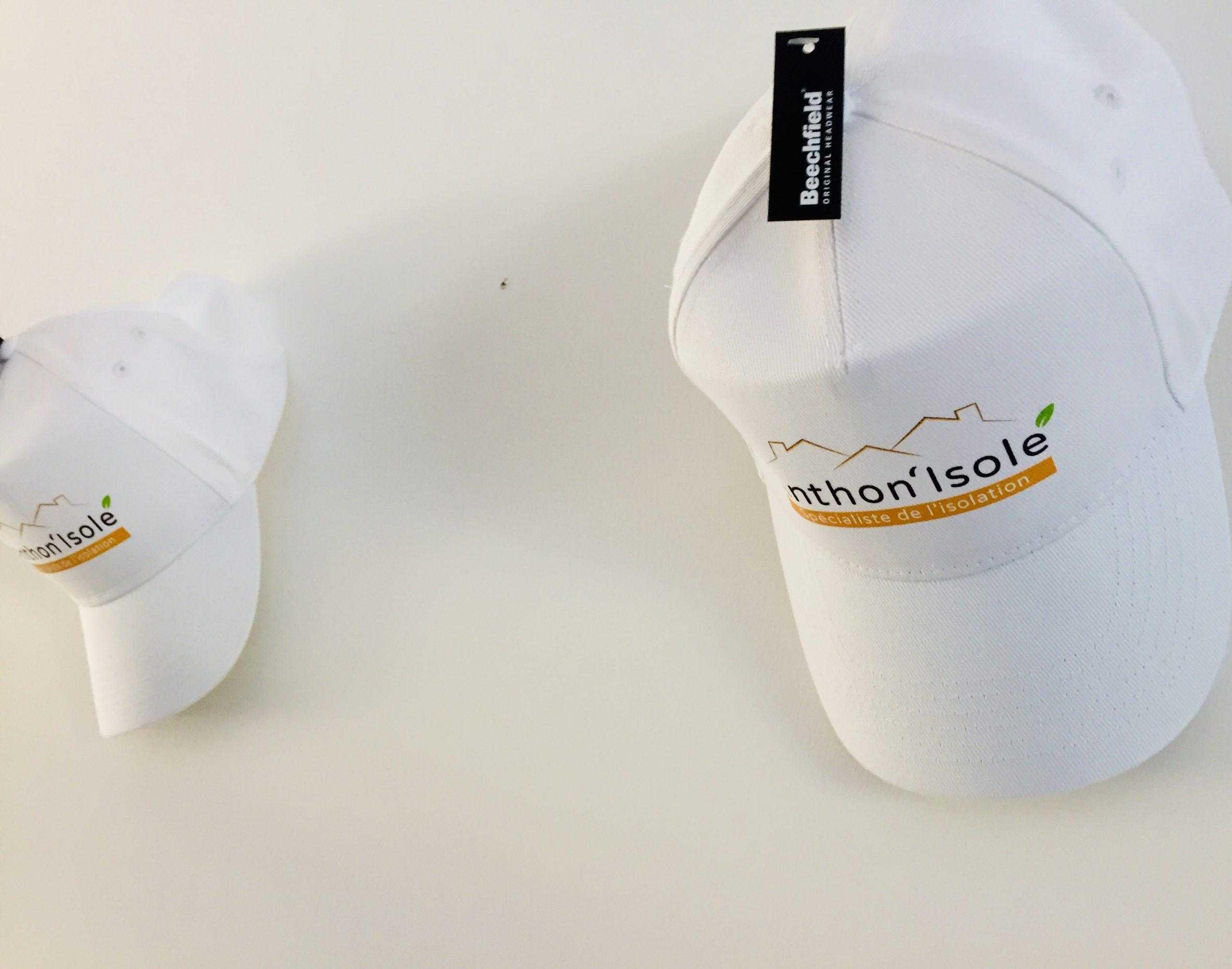casquette personnalisé marquage coeur et dos marquage isolation