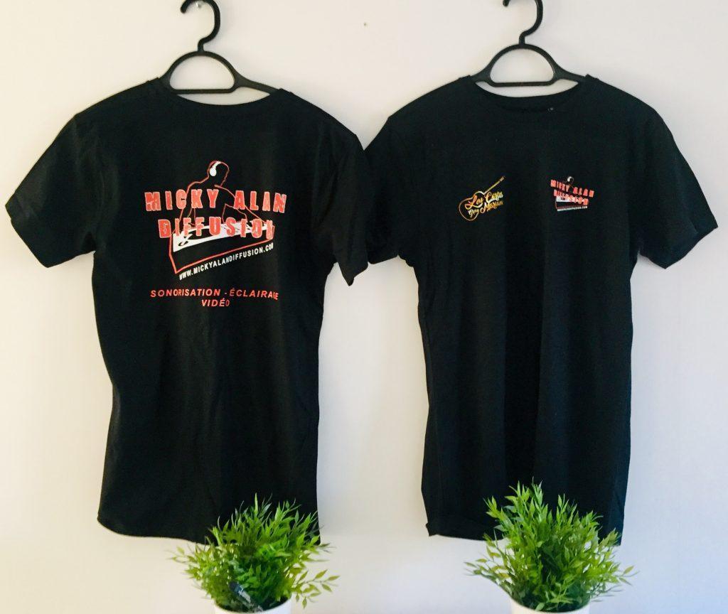 Marquage t-shirt noir