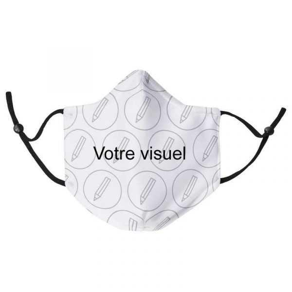 masque tissu personnalise logo