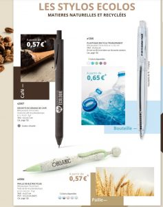 stylos ecolos Stylo recyclé personnalisé