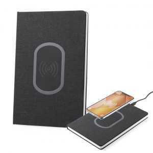 bloc note avec chargeur portable powerbank