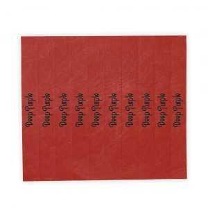 Bracelet en fibre synthétique pour adulte, disponible dans une large gamme de couleurs vives. Avec fermeture adhésive, résistant à l´eau et présenté en planche prédécoupée de 10 pièces avec numérotation individuelle. Taille Unique. Adulte