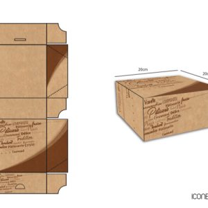 Packaging Boite à gateaux
