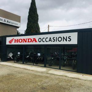 Pose panneau enseigne Honda