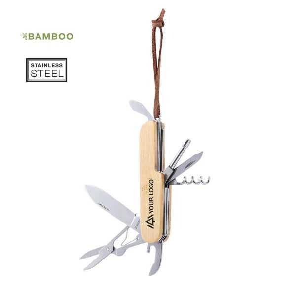 canif personnalisé en bambou