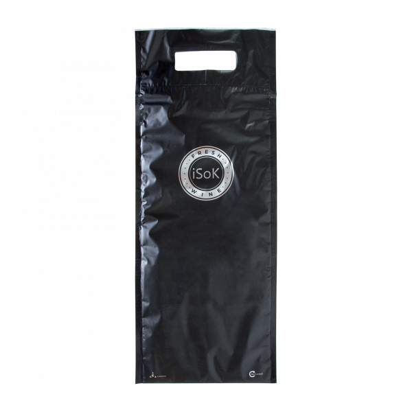 sac isotherme noir 1 bouteille recto trousse personnalisée publicitaire