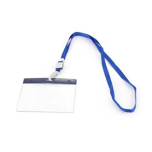 tour de cou avec badge publicitaire