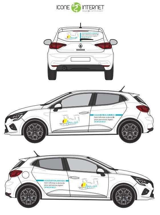 flocage vehicule maquette