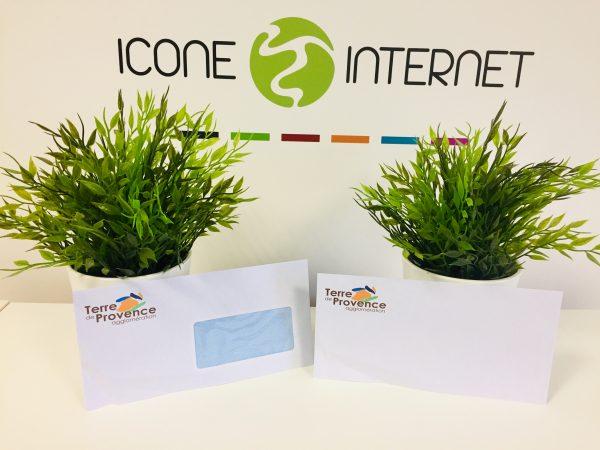 Enveloppes personnalisées avec fenetre avignon