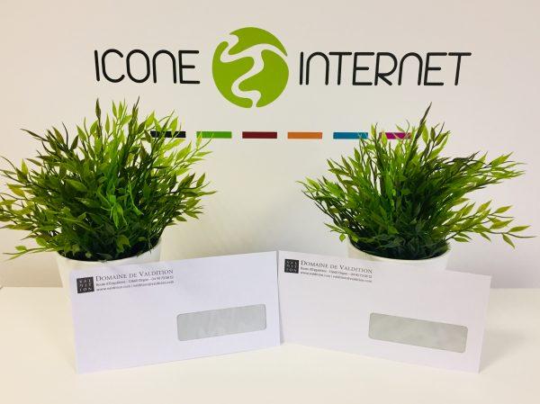 Enveloppes personnalisées avec fenetre