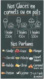 graphisme pour glaces