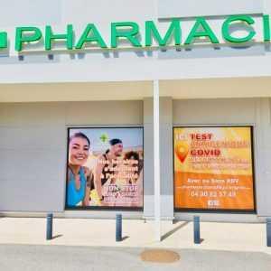 adhesif vitrine pharmacie