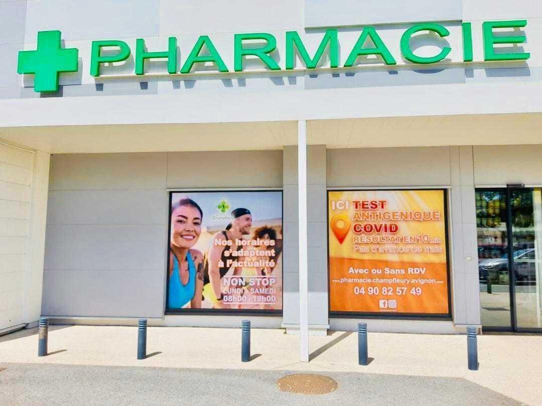 covering vitrine pharmacie
