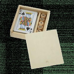 Coffrets de 54 cartes + 5 dés  personnalisés