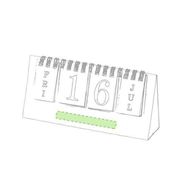 Calendrier carton recyclé personnalisable